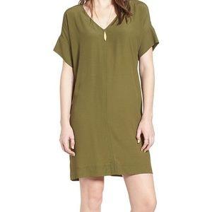 Madewell Desert Olive Novel T-Shirt Dress